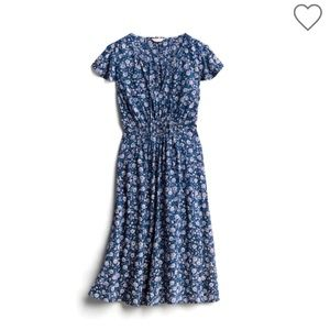 LUCKY brand Alba midi dress, blue floral Large